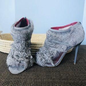 Charles Jourdan Paris high heel fur sandals 8 1/2M
